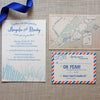 Beach Dunes Coastal Wedding Invitation