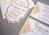 Die Cut Letterpress Wedding Invitation