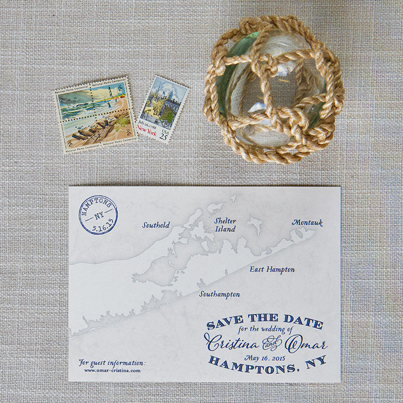 Hamptons Map Save the Dates