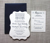 Inn at Millrace Pond Letterpress Wedding Invitation by Scotti Cline Designs