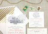 Legare Waring House Wedding Invitation in Charleston, SC by Scotti Cline Designs
