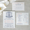 Louisiana Old State Capitol Wedding Invitation