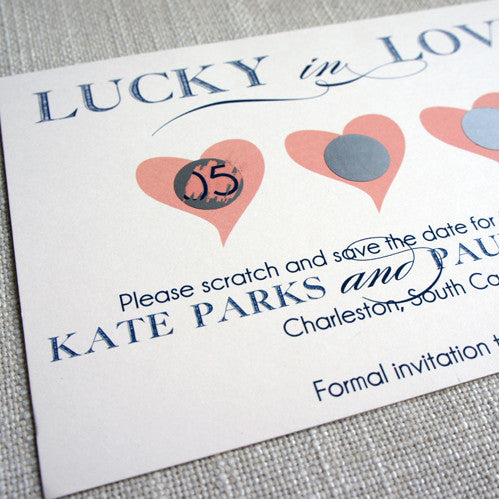 Lucky in Love Lottery Save the Date