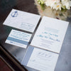 Nautical Letterpress Wedding Invitation. Picture by Alice Keeney Photography.