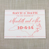 Letterpress North Carolina State Save the Date by Scotti Cline Designs