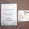 Damask and Marsh Grass Wedding Invitation