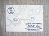 Peaks Island Maine Map Save the Date by Scotti Cline Designs