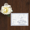 Rhode Island Map Save the Date by Scotti Cline Designs