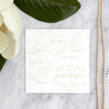 Charleston Outline Save the Date in matte gold by Scotti Cline Designs