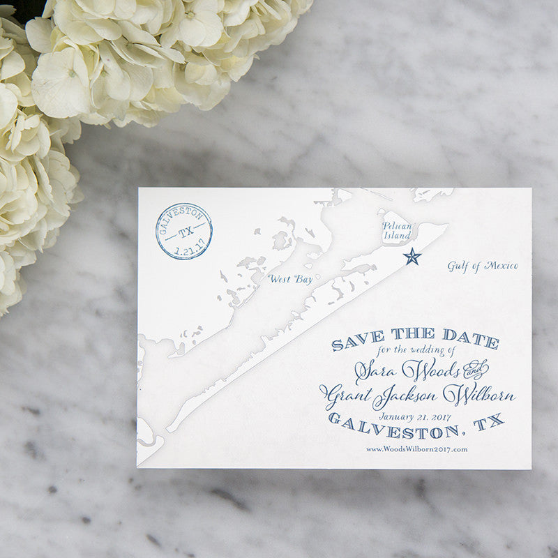 Galveston Texas Map by Scotti Cline Designs