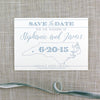 Letterpress North Carolina Save the Date (light blue letterpress) by Scotti Cline Designs