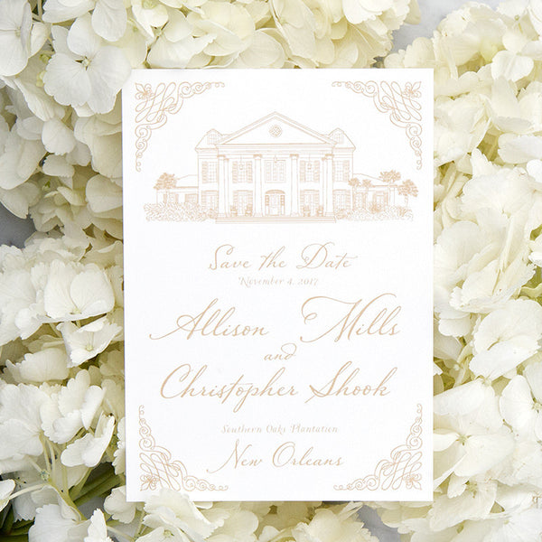 Southern Oaks Plantation Save the Date by Scotti Cline Designs