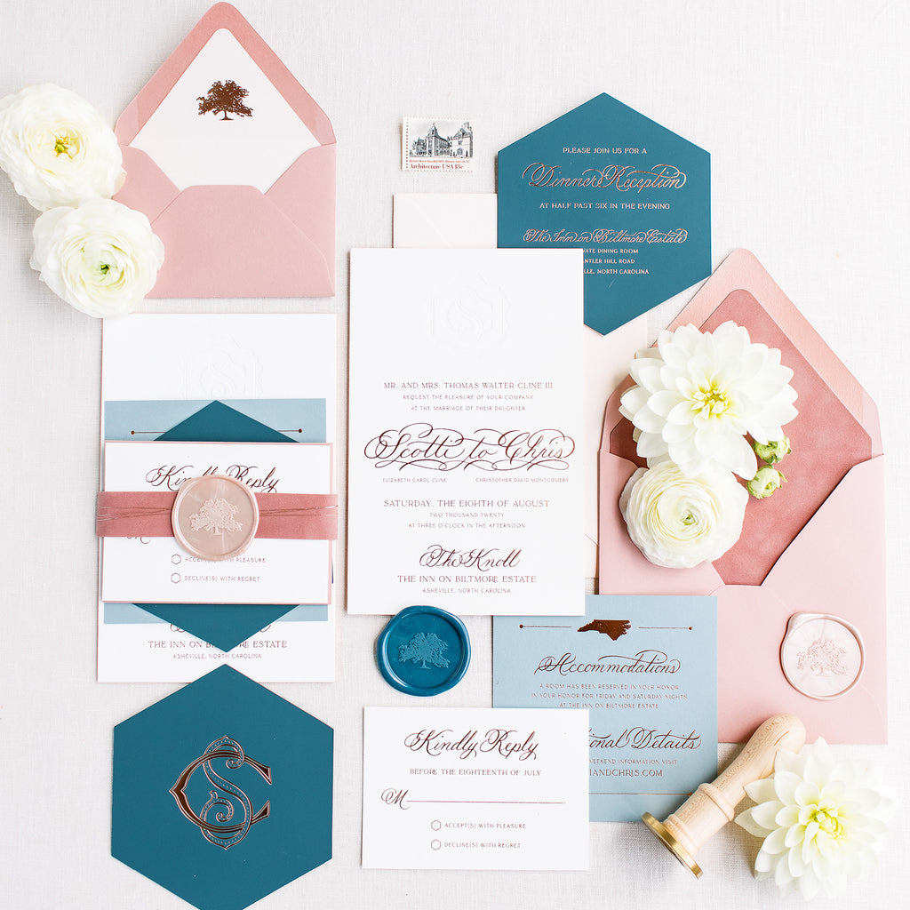Montgomery Wedding Invitation