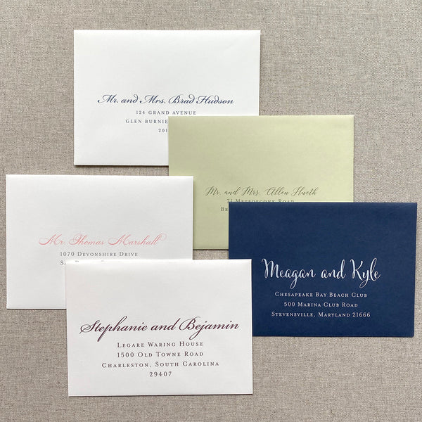 Envelope Printing by Scotti Cline Designs