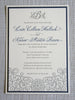 Letterpress Wedding Invitation featuring iron gate scrollwork detail
