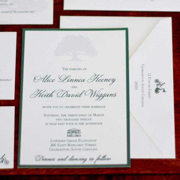 Lowndes Grove & Oak Tree Invitation