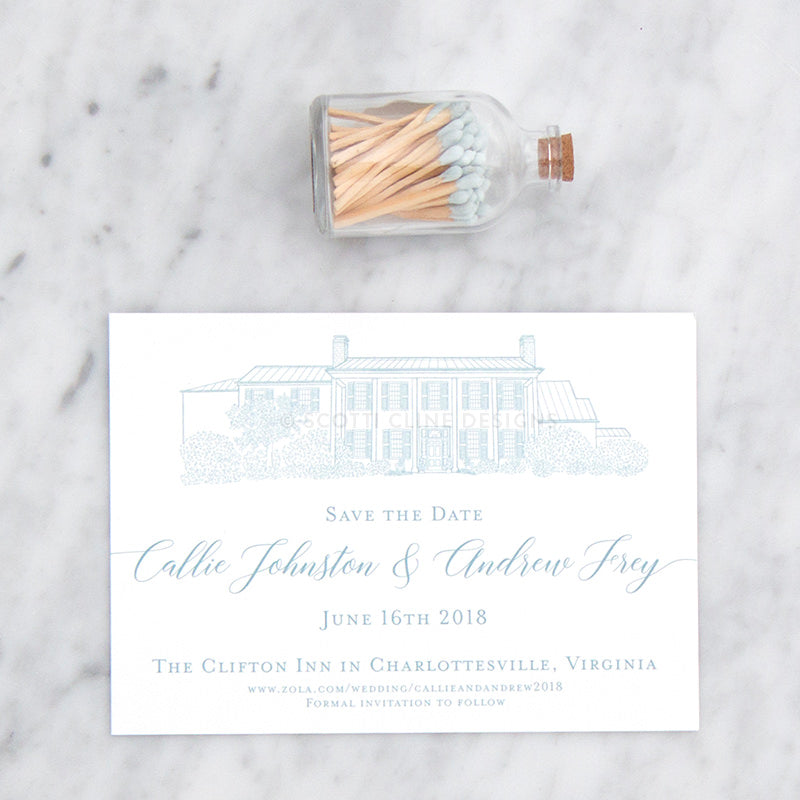 Clifton Inn Save the Date by Scotti Cline Designs