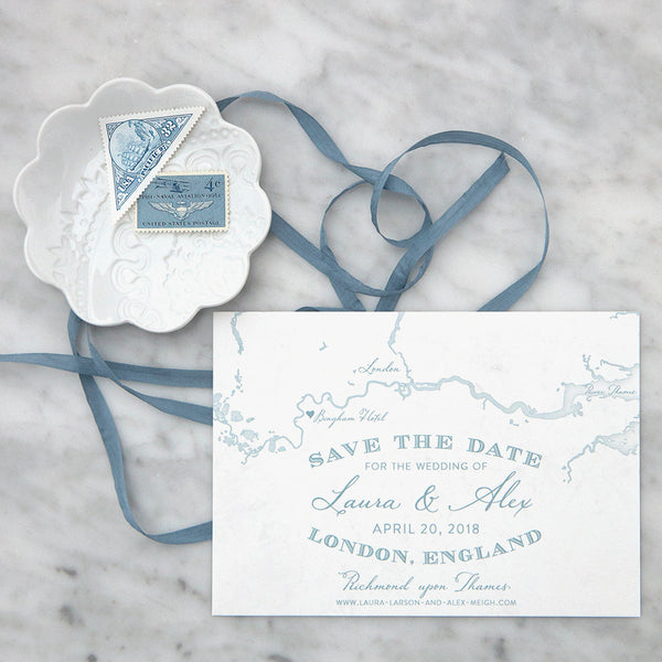 London England Map Save the Date by Scotti Cline Designs