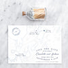 Chebeague Island Map Save the Date by Scotti Cline Designs