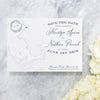 Massachusetts Map Save the Date by Scotti Cline Designs