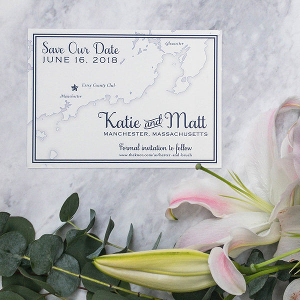 Manchester Map Save the Date by Scotti Cline Designs