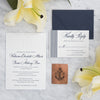 Nautical Letterpress Wedding Invitation by Scotti Cline Designs