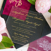 Acrylic and Gold Foil Wedding Invitation