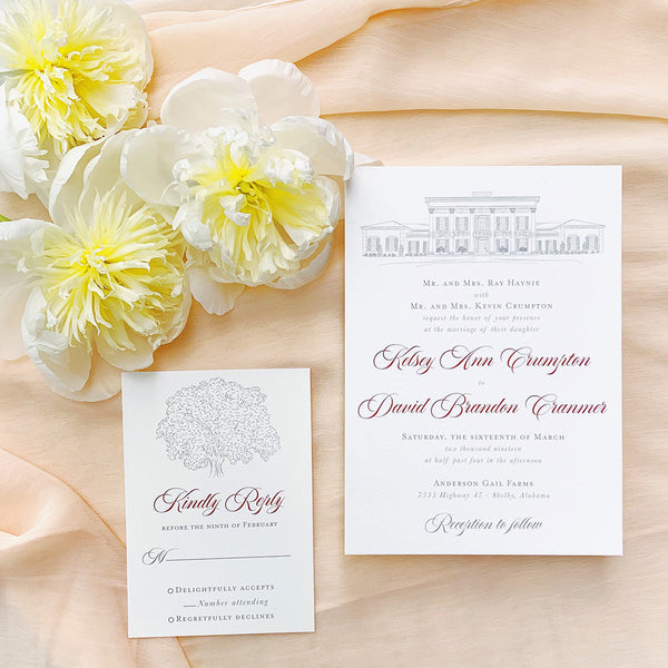 Anderson Gail Farms Wedding Invitation by Scotti Cline Designs