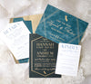 Gold Foil Deco Wedding Invitation