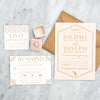 Blush Deco Wedding Invitation by Scotti Cline Designs