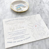 Chesapeake Bay Foil Wedding Invitation