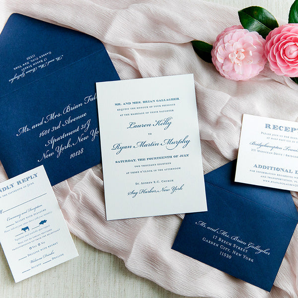 Classic Navy Letterpress Wedding Invitation by Scotti Cline Designs | Photo by Dana Cubbage Weddings