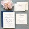 Classic Navy Wedding Invitation