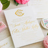 Monogram Gold Foil Wedding Invitation by Scotti Cline Designs | Photo by Dana Cubbage Weddings