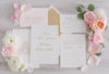 Classic Blush and Gold Wedding Invitation