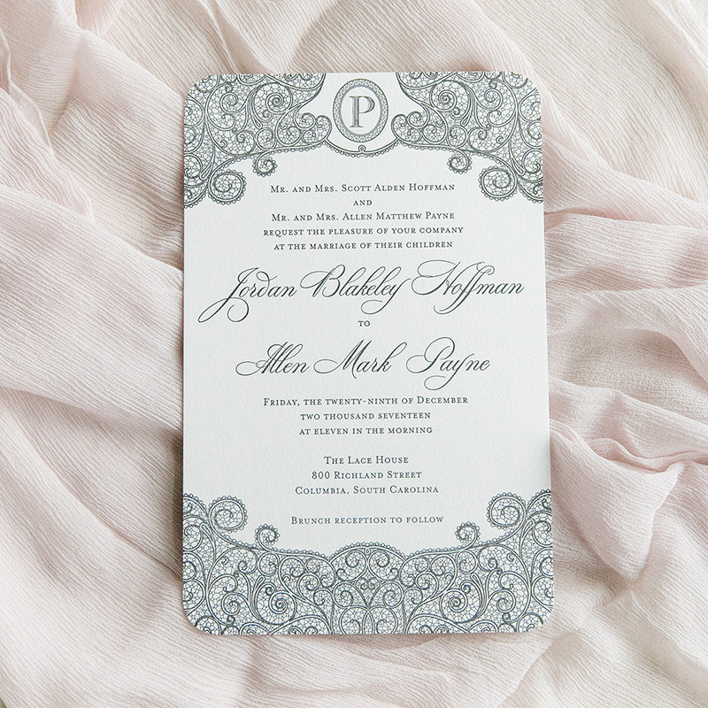 Lace Letterpress Wedding Invitation by Scotti Cline Designs | photo by Dana Cubbage Weddings