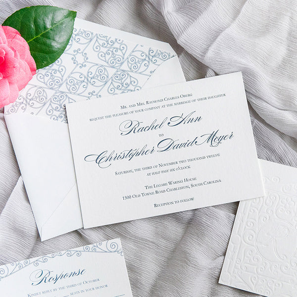 Legare Waring House Gates Letterpress Wedding Invitations by Scotti Cline Designs | Photos by Dana Cubbage Weddings