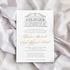 Letterpress Lowndes Grove Invitation by Scotti Cline Designs | Photo by Dana Cubbage Weddings