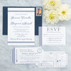 Nautical Stripe Maine Wedding Invitation by Scotti Cline Designs
