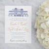 Old Wide Awake Plantation Wedding Invitation by Scotti Cline Designs