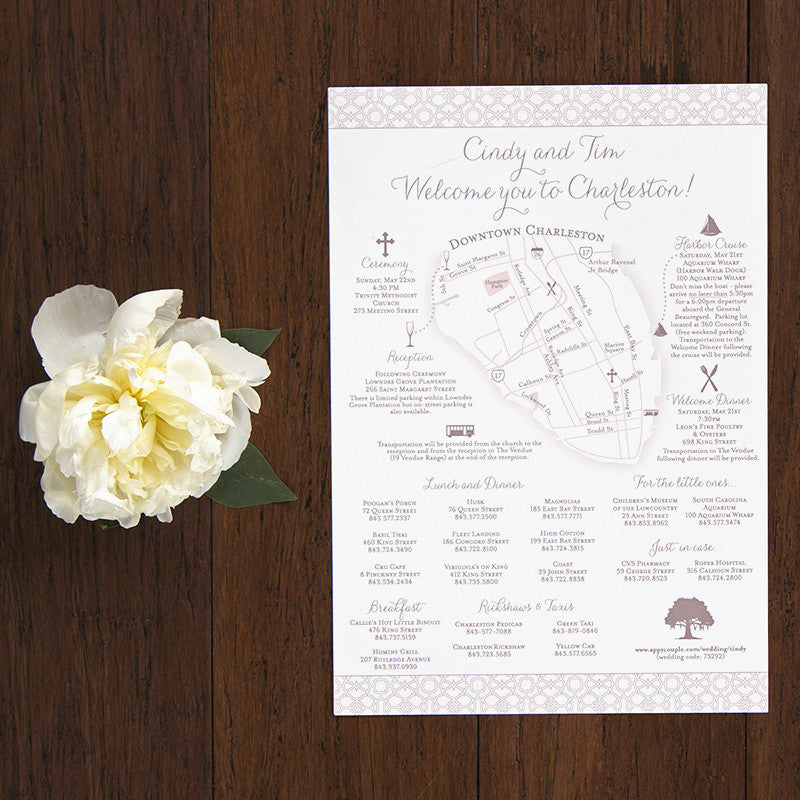 Wedding Weekend Itinerary And Map  Scotti Cline Designs