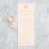 Wedding Weekend Itinerary by Scotti Cline Designs