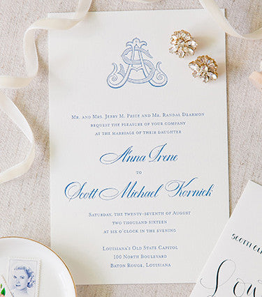 Wedding Invitations - photo by Dana Cubbage Photography