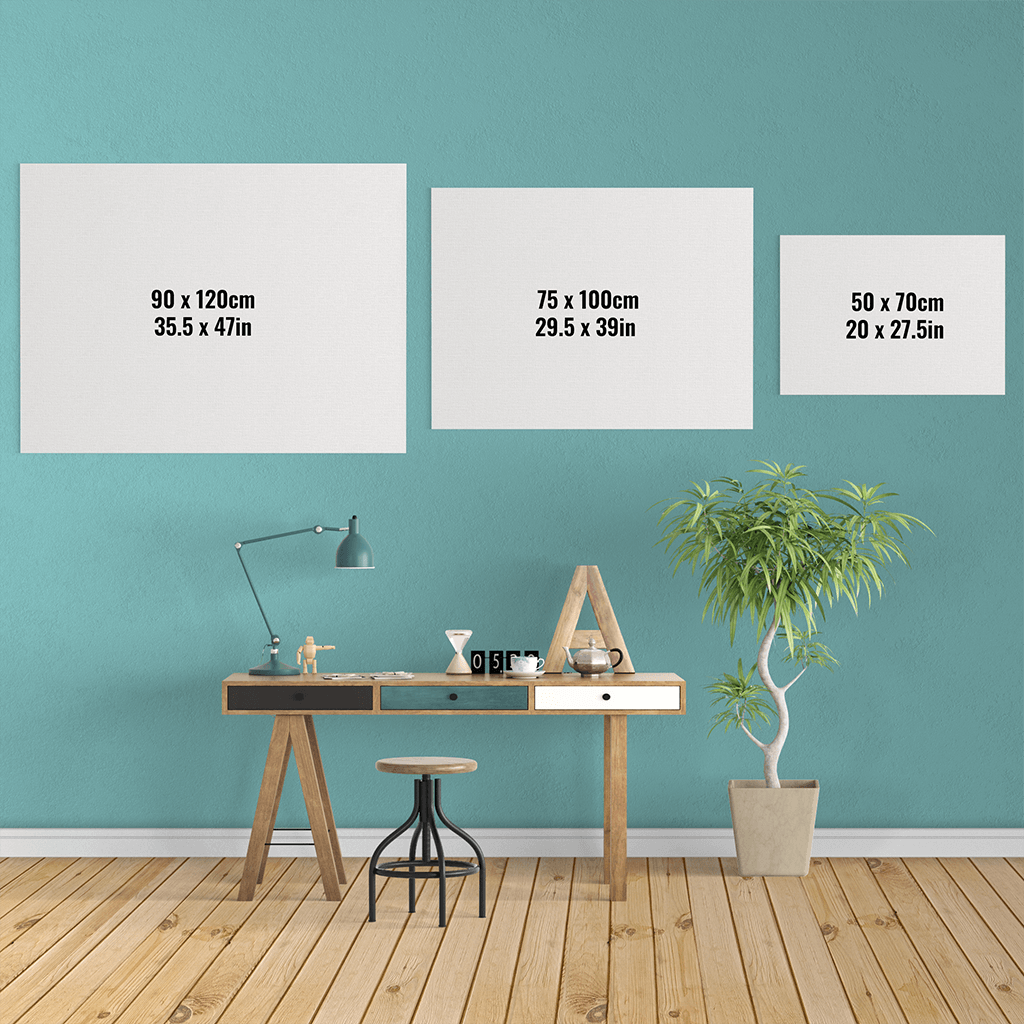 Exclusive affordable Canvas Art shipped Worldwide - Sizing Chart