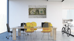 Dollar (Money, Money, Money) - canvas-to-the-people - Exclusive Canvas Art Shipped Globally