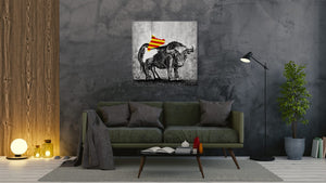 Spanish Bull (Adiós Cataluña) - canvas-to-the-people - Exclusive Canvas Art Shipped Globally