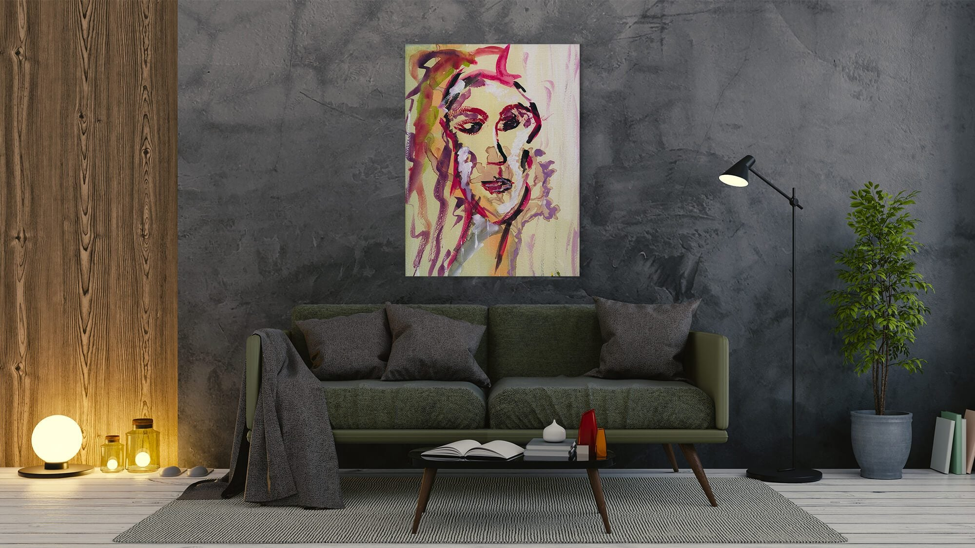 Thoughtful Woman - canvas-to-the-people - Exclusive Canvas Art Shipped Globally