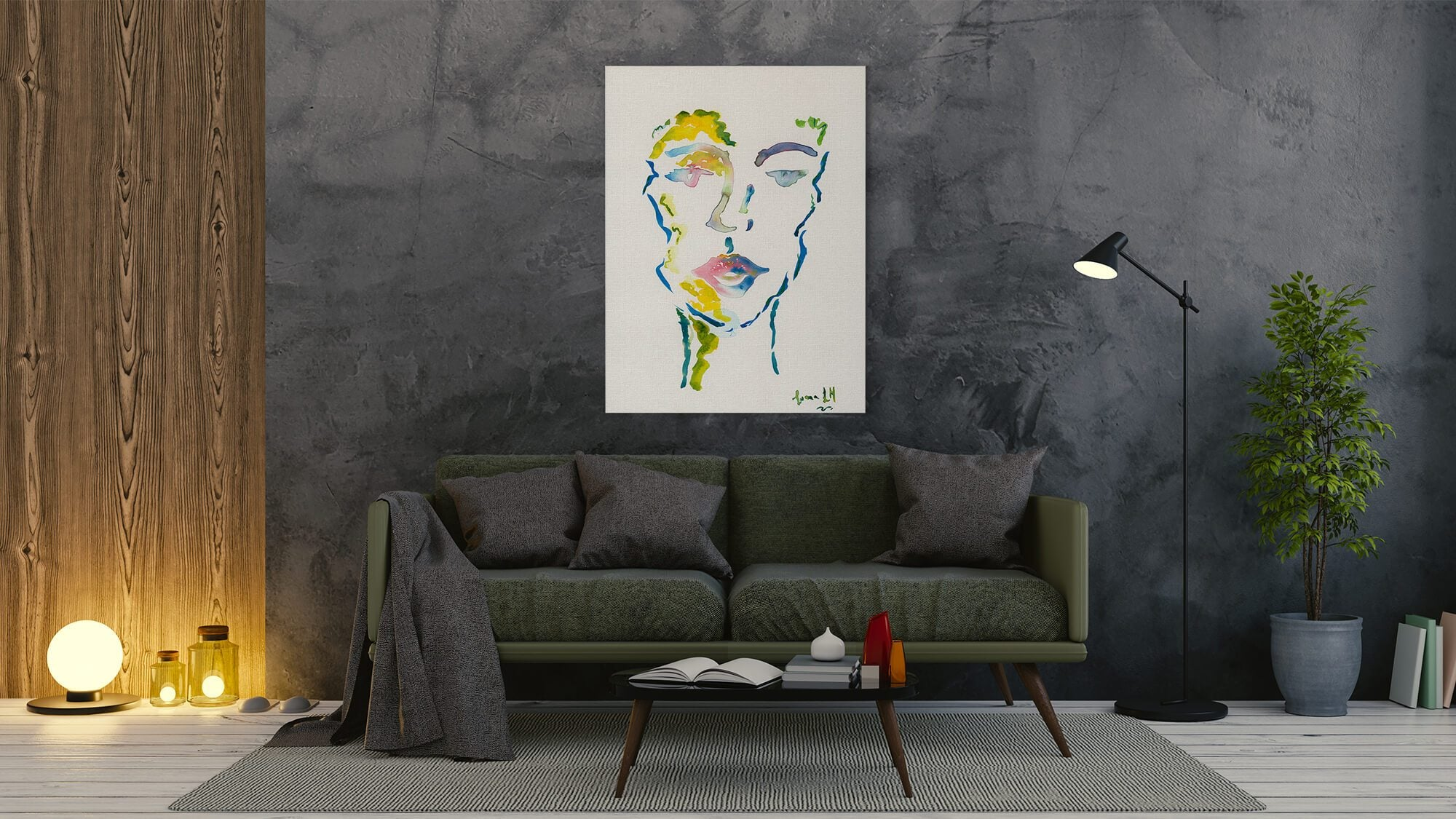 Someone Colorful - canvas-to-the-people - Exclusive Canvas Art Shipped Globally