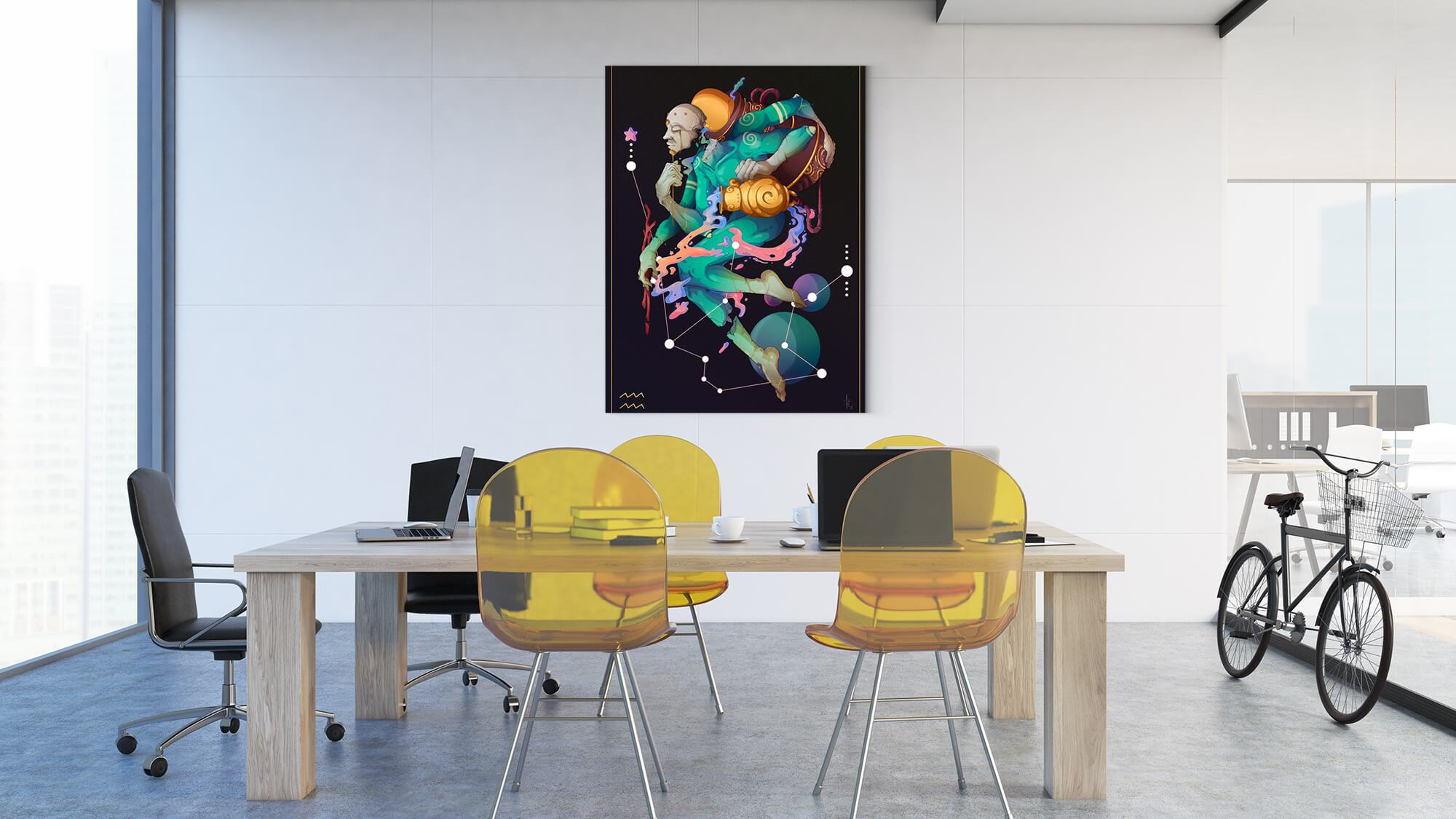 Zodiac - Aquarius - canvas-to-the-people - Exclusive Canvas Art Shipped Globally