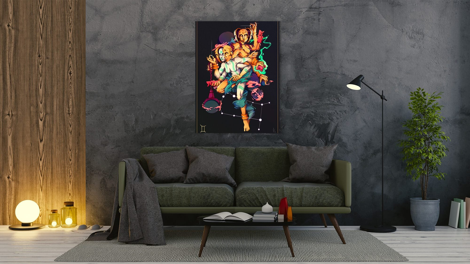 Zodiac - Gemini - canvas-to-the-people - Exclusive Canvas Art Shipped Globally